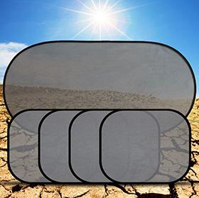 Produktvorstellung: BOHMAIN 5 Teiliges Auto Sonnenblenden- / Sonnenschutz Popup-System mit Saugnäpfen, schwarz